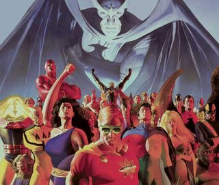 The original Squadron, as realised by Alex Ross.